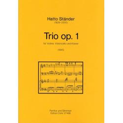 Ständer, Hatto: Trio op.1 für Violine, Violoncello und Klavier Partitur und Stimmen