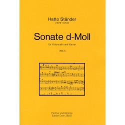 Ständer, Hatto: Sonate d-moll : für Violoncello und Klavier
