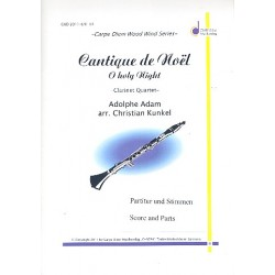 Cantique de Noel : for 4 clarinets score and parts