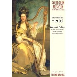 Hertel, Johann Wilhelm: Konzert D-Dur für Harfe (Cembalo), 2 Hörner, 2 Violinen, Viola und Violoncello Partitur