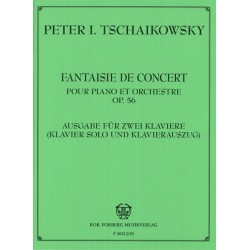 Tschaikowsky, Peter Iljitsch: Fantasie de Concert op.56 : für Klavier und Orchester Klavierauszug