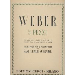 Weber, Carl Maria von: 5 Pezzi : per 2 pianoforti partition