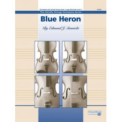 Siennicki, Edmund J.: Blue Heron for 3 violins, viola, violoncello, bass and piano score and parts