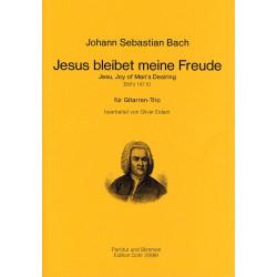 Bach, Johann Sebastian: Jesus bleibet meine Freude BWV147,10 : für 3 Gitarren Partitur und Stimmen