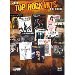 Top Rock hits 2009 : songbook guitar/tab with melody line