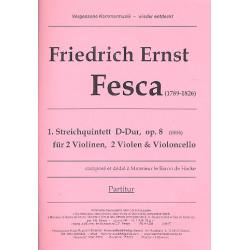 Fesca, Friedrich Ernst: Streichquintett D-Dur op.8 : f├╝r 2 Violinen, 2 Violas und Violoncello Partitur