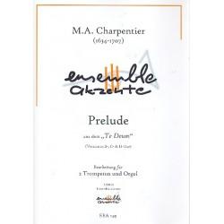 Charpentier, Marc Antoine: Prelude aus Te Deum für 2 Trompeten und Orgel Partitur und Stimmen