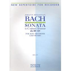 Bach, Johann Sebastian: Sonate c-moll BVW1029 : für Altblockflöte und Klavier