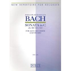 Bach, Johann Sebastian: Sonate in C BVW1027 : für Altblockflöte und Klavier