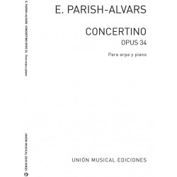 Parish-Alvars, Elias: Concertino op.34 : for harp and piano