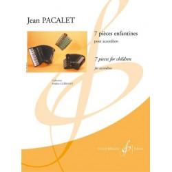 Pacalet, Jean: 7 pieces enfantines : pour accordeon