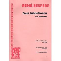 Eespere, René: 2 Jubilationen : für Solo, Männerchor und Orgel Partitur