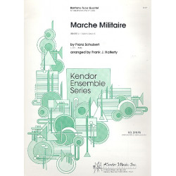 Schubert, Franz: Marche Militaire : für 2 Baritonhörner und 2 Tubas Partitur und Stimmen