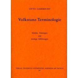 Ilmbrecht,Otto: Volkstanz-Terminologie : Schritte, Fassungen und sonstige Erklärungen