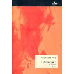 Kram, Christian FP: Filterungen für Flöte, Oboe, Klarinette, Percussion und Klavier Partitur