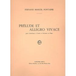 Fontaine, F.: Prelude et Allegro Vivace : pour contrebasse et orchester reduction pour piano