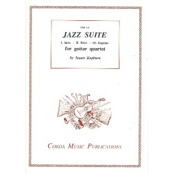 Hepburn, Stuart: Jazz Suite : for 4 guitars score and parts