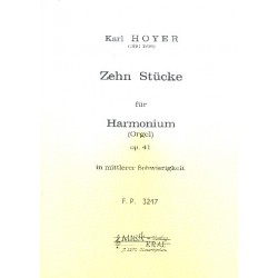 Hoyer, Karl: 10 St├╝cke op.41 : f├╝r Harmonium (Orgel)