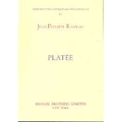 Rameau, Jean Philippe: Platee für Soli, gem Chor und Piano Partitur