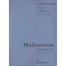 Cerha, Friedrich: Malinconia : für Bariton und Posaune Partitur