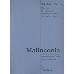 Cerha, Friedrich: Malinconia : f├╝r Bariton und Posaune Partitur