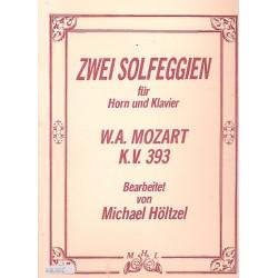 Mozart, Wolfgang Amadeus: 2 Solfeggien KV393 für Horn und Klavier