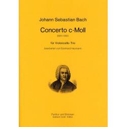 Bach, Johann Sebastian: Concerto c-moll BWV1060 : f├╝r 3 Violoncello Partitur und Stimmen