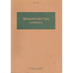 Britten, Benjamin: Diversions op.21 : for piano and orchestra study score