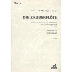 Mozart, Wolfgang Amadeus: Die Zauberflöte : für Flöte, Violine, Viola und Violoncello Stimmen