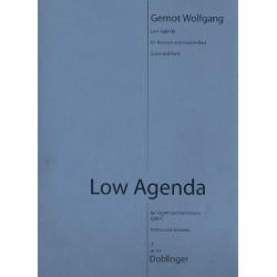 Wolfgang, Gernot: Low Agenda : für Fagott und Kontrabass Partitur und Stimmen