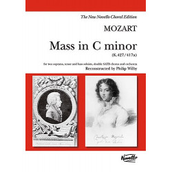 Mozart, Wolfgang Amadeus: Mass in c minor KV427 for soli, mixed chorus and orchestra vocal score