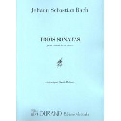 Bach, Johann Sebastian: 3 Sonates BWV1027, 1028, 1029 : pour violoncelle et piano