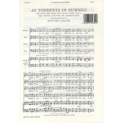Elgar, Edward: As torrents in Summer : for mixed chorus and piano score