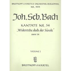 Bach, Johann Sebastian: Widerstehe doch der S├╝nde Kantate Nr.54 BWV54 VL1