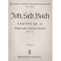 Bach, Johann Sebastian: Widerstehe doch der S├╝nde Kantate Nr.54 BWV54 VA