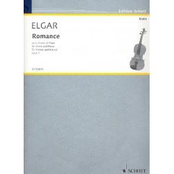 Elgar, Edward: Romance op.1 pour violon et piano