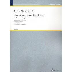 Korngold, Erich Wolfgang: Lieder aus dem Nachlass Band 2 : für Gesang und Klavier