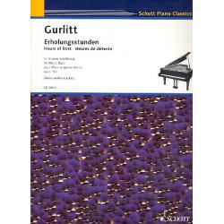 Gurlitt, Cornelius: Erholungsstunden op.102 : für Klavier zu 4 Händen