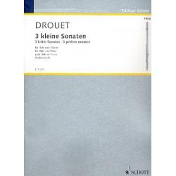 Drouet, Louis Philipp: 3 kleine Sonaren für Flöte und Klavier