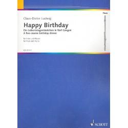 Ludwig, Claus-Dieter: Happy Birthday für Flöte und Klavier