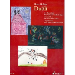Holliger, Heinz: Duöli : für 1-2 Violinen