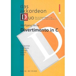 Newy, Wolfgang: Divertimento in C : f├╝r 2 Akkordeons Partitur