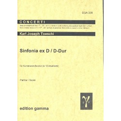 Toeschi, Carlo Giuseppe: Sinfonia ex D D-Dur für Kammerorchester Partitur