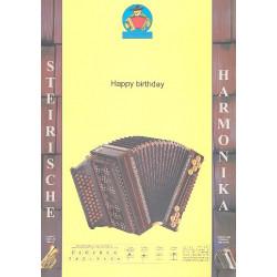Pauli, Erich: Happy Birthday : f├╝r steirische Harmonika
