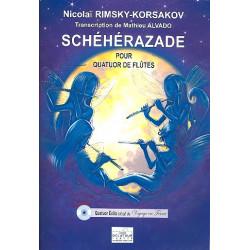 Rimski-Korsakow, Nicolai: Scheherazade (+CD) pour 4 flutes partition et parties