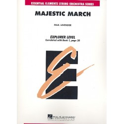 Lavender, Paul: Majestic March : for violin, viola, violoncello, bass and piano score and parts