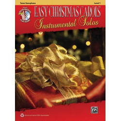 Easy Christmas Carols (+CD) : for tenor saxophone
