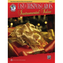 Easy Christmas Carols (+CD) : for viola and piano