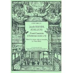 Handl, Jacob, genannt Jacobus Gallus: Pueri Concinite : for mixed chorus score and parts