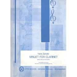 Zander, Hans: Minuet : for clarinet and piano